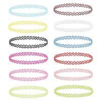 BodyJ4You 12PC Choker Necklace Set Henna Tattoo Stretch Elastic Jewelry Girls