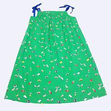 Hanna Andersson Girls Green Birds Printed Ribbon Pillowcase Dress 10 (140) kg1