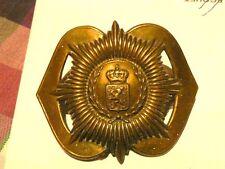 ancien insigne de casquette a identifier lion et couronne