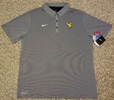 West Virginia Mountaineers XL Men's Nike Dri-Fit gray polo shirt! $75 tags!