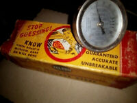 Vintage TEL-TRU THERMOMETER Kitchen Stainless Steel Collectable with Box