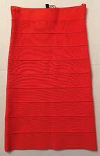BCBG MAX AZRIA Alexa Bandage Pencil Skirt Tangier Orange Brand New NWT Sz XXS