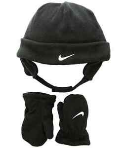 Toddler Boy's Nike Kids' Swoosh Fleece  Cap  & Gloves Set