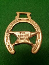 Vintage Horse Brass Tack Medallion The Famous Anvil Gretna Green