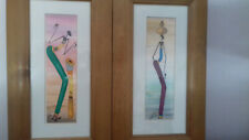 2 framed African Art prints/pictures Kenyan artist Gakonga