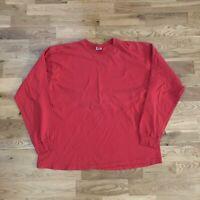 Vintage 90s Gap Basic Red Blank Long Sleeve T-Shirt Large Made USA Single Stitch