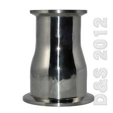 """OD 51x45mm 2""""x1-3/4''Sanitary Ferrule Reducer Fitting to Tri Clamp SS SUS 316"""
