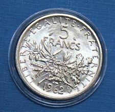 5 Francs Semeuse Argent - 1962 -  FDC (monnaie neuve)
