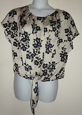SIZE 18 ROMAN SLEEVELESS GOLD WITH BLACK & BLUE FLOWERS TOP, PLUS SIZE, NWOT,