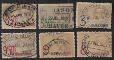 France Revenue Stamps Mauritanie 1915 Revenues Fiscals OV668? Used Lot 6