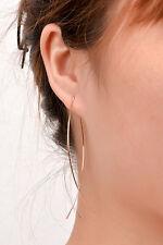 Elegant Women's Long Drop Dangle Earrings Gold Plated Ear Stud Fashion Jewelry