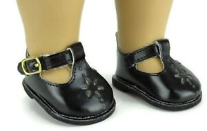 Black Mary Jane Shoes made for 18 inch American Girl Doll Clothes