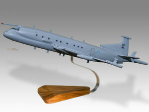 Hawker Siddeley Nimrod MRA4 RAF Solid Mahogany Replica Airplane Desktop Model