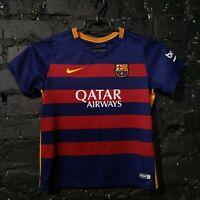 Barcelona Jersey Home football shirt 2015 - 2016 Nike 658711-422 Size Kids L