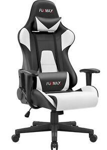 Gaming Office Chair with Footrest Swivel Desk Chair Racer Ergonomic Computer PC