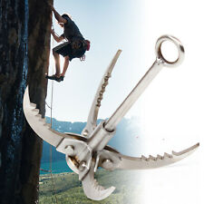 4 Claws Stainless Steel Foldable Climbing Grappling Hook For Outdoor Climbing