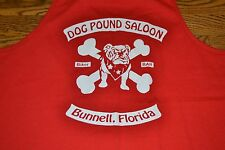 Dog Pound Saloon Biker Motorcycle Bar Bunnell FL Tank Top Large Nice Crossbones