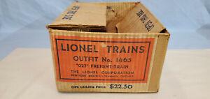 LIONEL POSTWAR 1465 SET BOX COMPLETE ALL ORIG............TK..