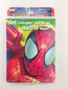 Spider-man Birthday Party 8 Invitation & Thank You Cards Pack WEB OF FUN OOP NEW