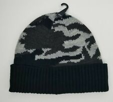 Cashmaire Black Camo Acrylic Beanie Winter Hat for Boys NEW-NO TAGS