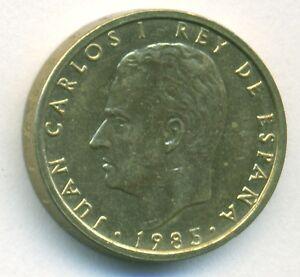SPAIN COIN 100 PESETAS 1985 ALUMINIUM-BRONZE KM# 826 AU