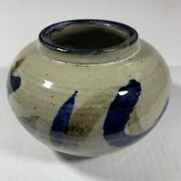 Handmade Vase Ceramic Round Pottery Art Deco Decor 7""