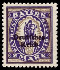 Germany Deutsches Reich 1920 Mi. Nr. 132 2 M Bavaria Definitive Overprint MH