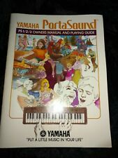 Yamaha  Portasound PS 1 2 3 Owner's Manual Players Guide Book Vintage Clean