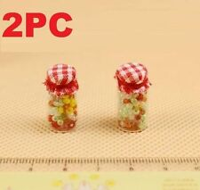 2PC Set 1:12 Scale Candy Bottles Dollhouse Miniature Re-ment Doll Home Scene ☆