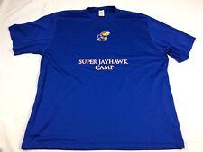 adidas Kansas Jayhawks  - Blue ClimaLite Short Sleeve Shirt (3XL) - Used