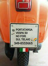 Porta targa Vespa 50 No Fori sul Telaio_portatarga Special l r n 125 ET3 motore