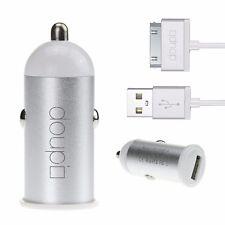 2 en 1 SET CHARGEMENT USB Voiture Chargeur Adaptateur 30pin Câble iPhone 4 4S
