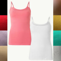 Ex High Street Stretch Camisole Vest Top *NEXT Day Postage* 11 Colours Size 6-18