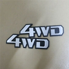 2x Silver Matte B New 4WD Metal Badge Emblem Sticker Car AWD Driven Logo 3D 4x4