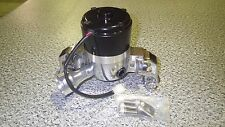 CHEVROLET SMALL BLOCK POLISHED ALUMINIUM / BLACK ELECTRIC WATER PUMP