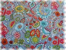 Christine Popeline grau Baumwolle Blumen und Ornamente 50 cm Webware