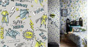 Arthouse Superhero Wallpaper and/or Duvet Cover Set
