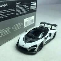 1/64 Mini GT McLaren Senna White / Black HK Exclusive MGT00019-R