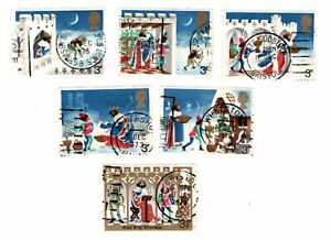 GB Stamps SG943-948. Christmas 1973. Multicoloured Used