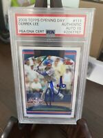 2006 Topps Opening Day Derrek Lee Auto Signed PSA/DNA Chicago Cubs