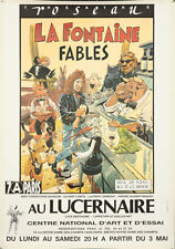 Original Vintage Poster La Fontaine Fables French Cartoon 1989 Bar Animals Cool