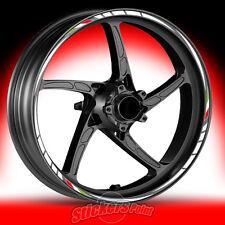 Adesivi moto APRILIA SHIVER strisce RACING 4 cerchi ruote wheels stickers