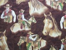 Moda Horseshoe Trail Horse Cowboy Riding Western Fabric Yard SALE