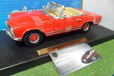 MERCEDES BENZ 280 SL cabriolet rouge au 1/18 ANSON 30389 voiture miniature