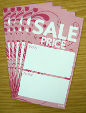 Boutique SALE PRICE TAGS SWING TICKETS LABELS PINK x 100