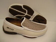 310 motoring shoes canning casual slip-on natural/white size 11 us new