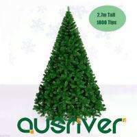 2.7M 9FT Green Xmas Tree 1800 PVC Tips Christmas Ornament Metal Frame Deco Gift