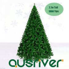 2.7M 9FT Green Xmas Tree 1800 Tips Christmas Ornament Metal Frame Jupiter GRN270