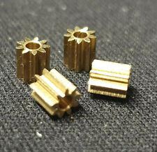 4x Motor Ritzel Zahnrad für Lego Duplo Intelli Lok Modul 0,4 9 Zähne aus Messing