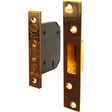 NEW Yale BS 5 Lever Mortice Deadlock 64mm Polished Brass Each